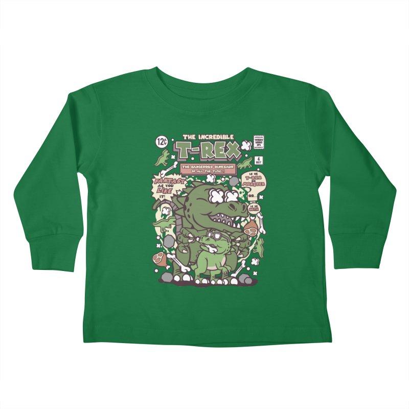 The Incredible T-Rex Kids Toddler Longsleeve T-Shirt by WackyToonz
