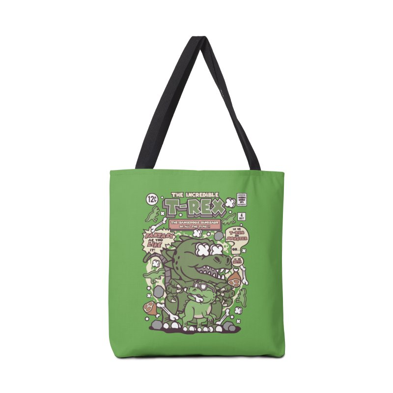 The Incredible T-Rex Accessories Tote Bag Bag by WackyToonz