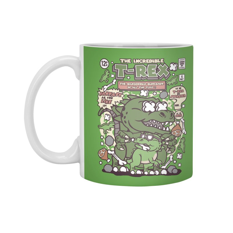 The Incredible T-Rex Accessories Standard Mug by WackyToonz