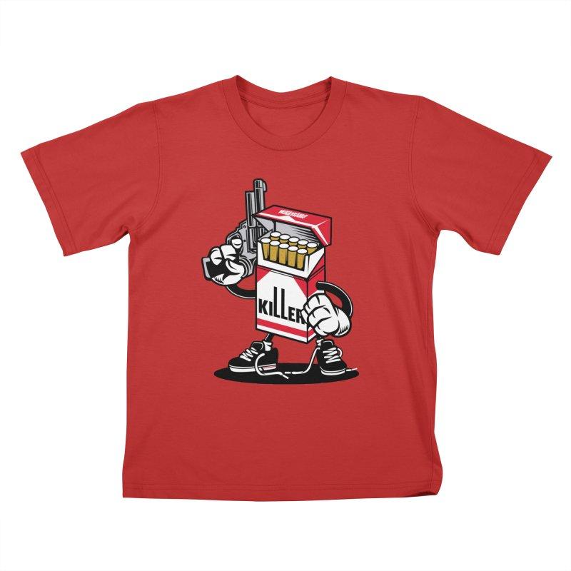 Lung Killer Kids T-Shirt by WackyToonz