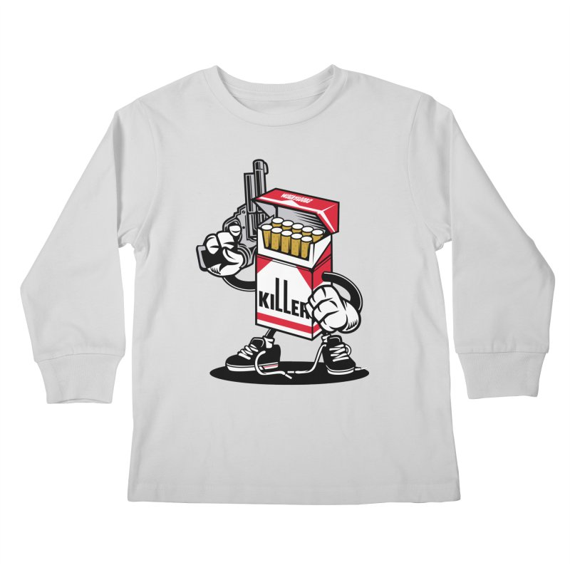 Lung Killer Kids Longsleeve T-Shirt by WackyToonz