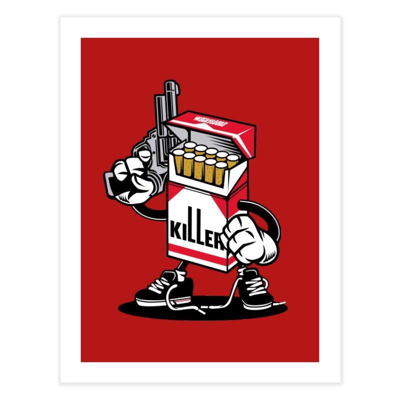 Lung Killer Home Fine Art Print by WackyToonz