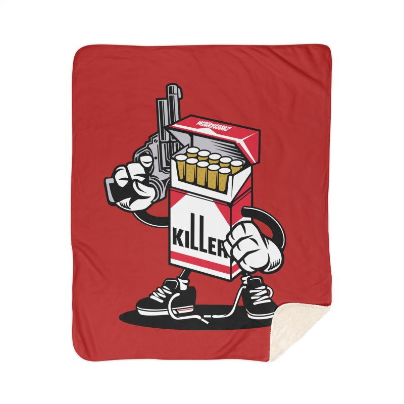 Lung Killer Home Blanket by WackyToonz