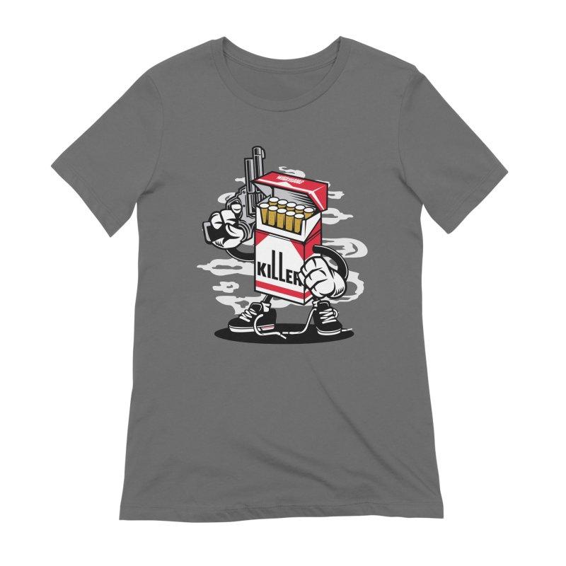 Lung Killer Women's Extra Soft T-Shirt by WackyToonz