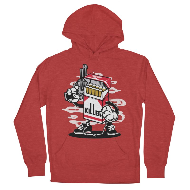 Lung Killer Women's French Terry Pullover Hoody by WackyToonz