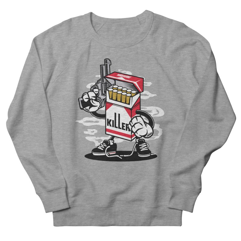 Lung Killer Men's French Terry Sweatshirt by WackyToonz