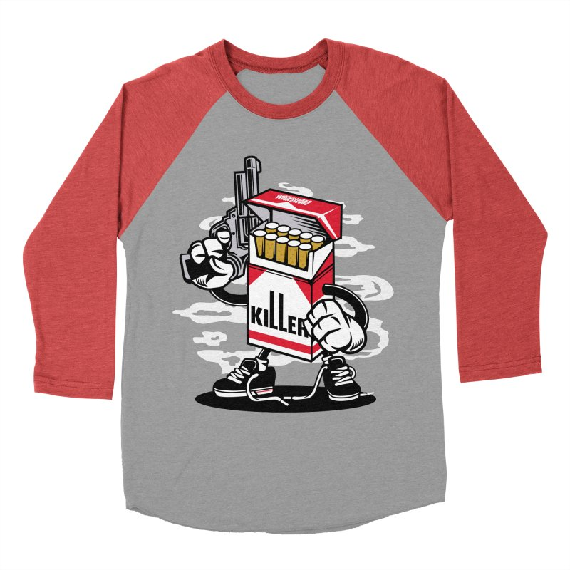 Lung Killer Women's Baseball Triblend Longsleeve T-Shirt by WackyToonz
