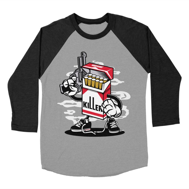 Lung Killer Men's Baseball Triblend Longsleeve T-Shirt by WackyToonz