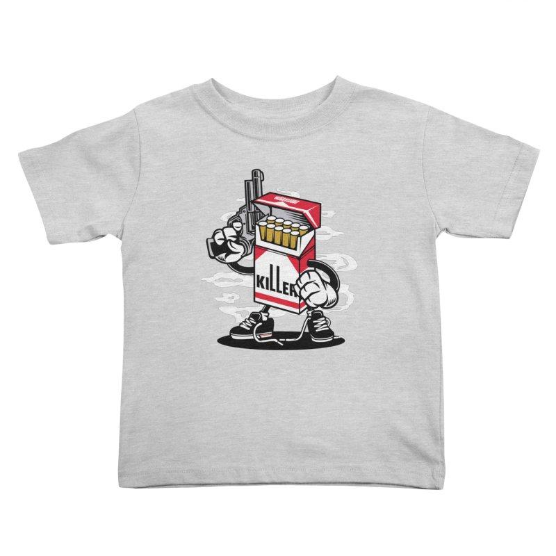 Lung Killer Kids Toddler T-Shirt by WackyToonz