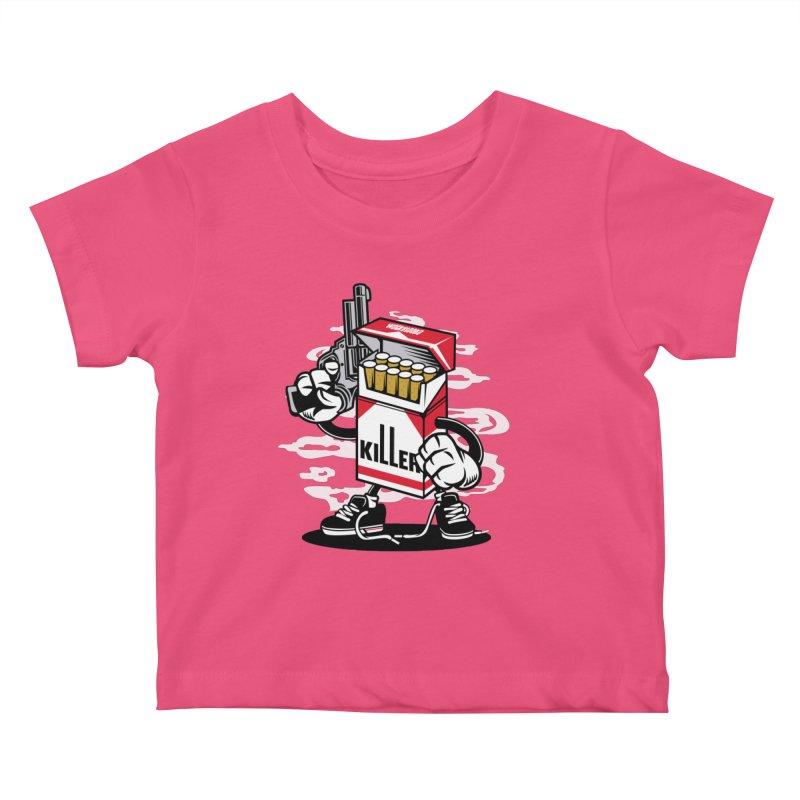Lung Killer Kids Baby T-Shirt by WackyToonz