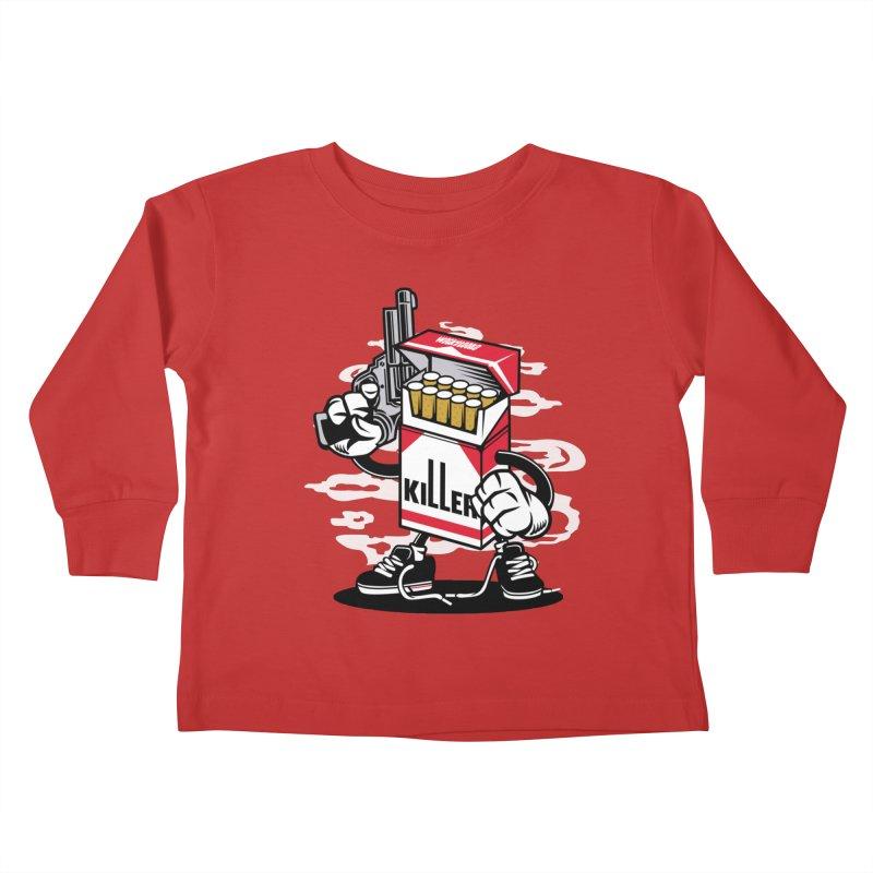 Lung Killer Kids Toddler Longsleeve T-Shirt by WackyToonz