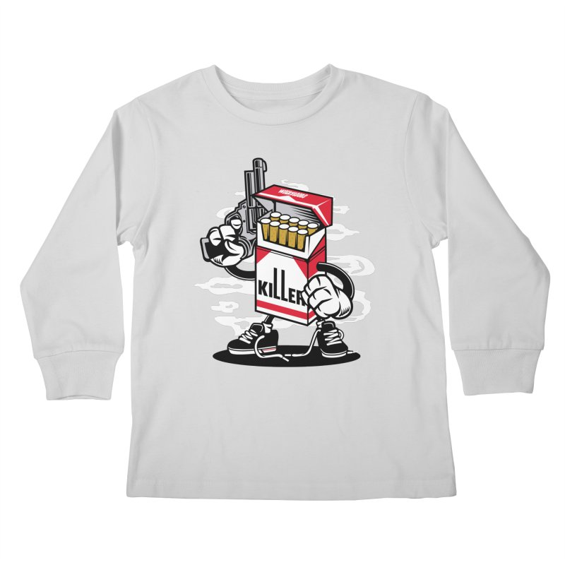 Lung Killer Kids Longsleeve T-Shirt by WackyToonz