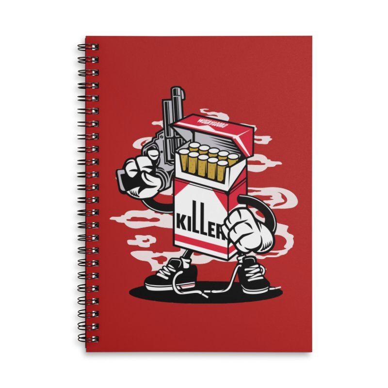 Lung Killer Accessories Lined Spiral Notebook by WackyToonz