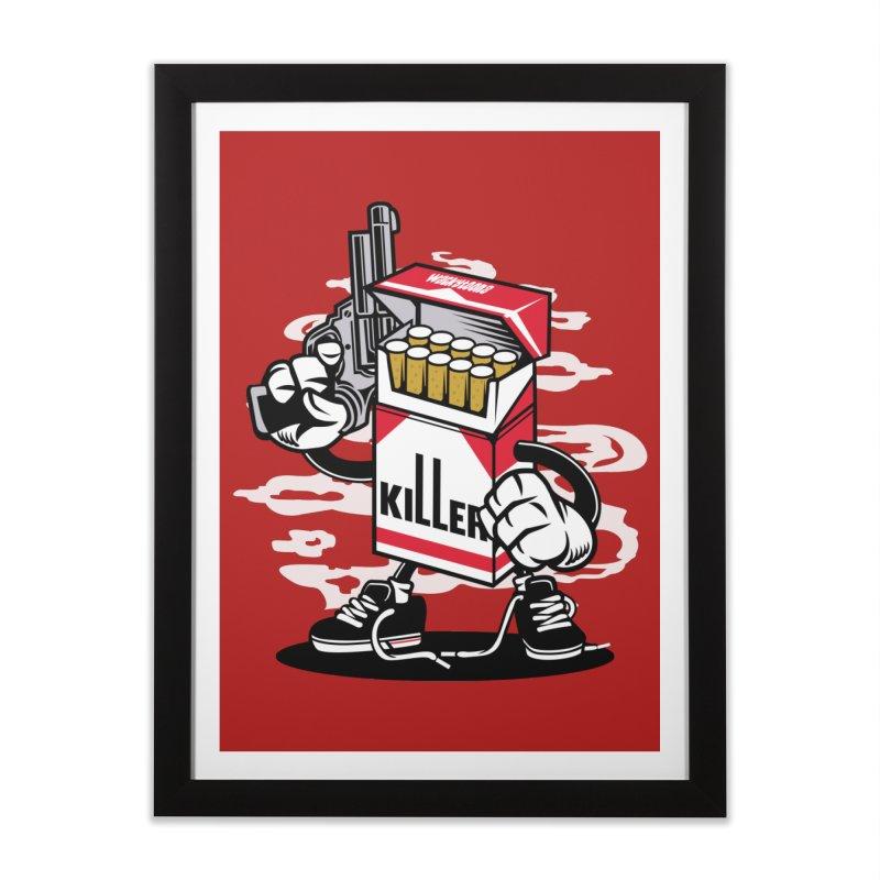 Lung Killer Home Framed Fine Art Print by WackyToonz