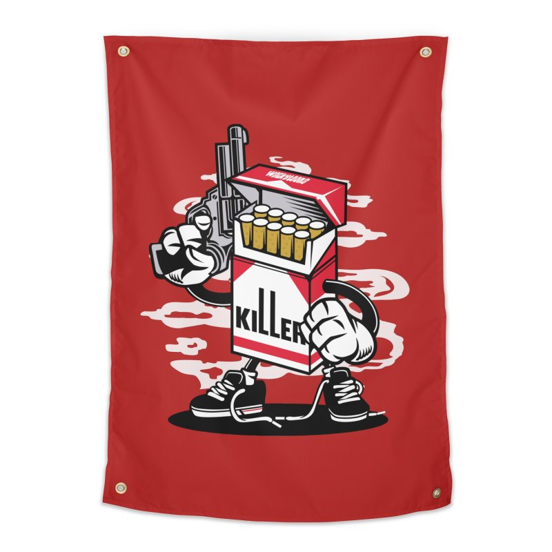 Lung Killer Home Tapestry by WackyToonz