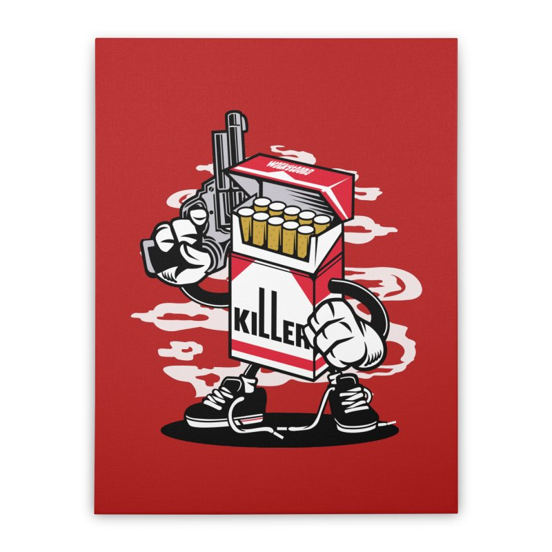 Lung Killer Home Stretched Canvas by WackyToonz