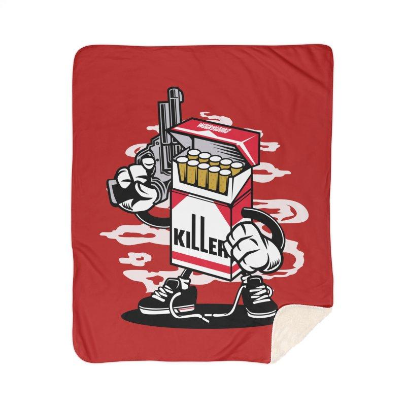Lung Killer Home Sherpa Blanket Blanket by WackyToonz