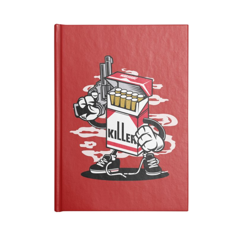 Lung Killer Accessories Lined Journal Notebook by WackyToonz