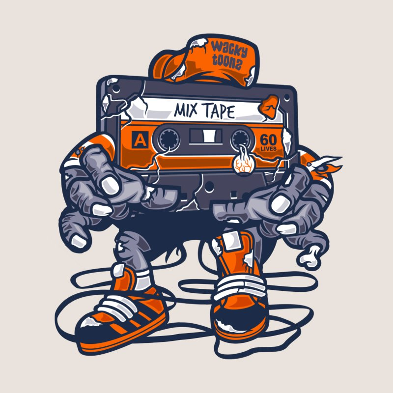 Mix Tape Zombie Kids T-Shirt by WackyToonz