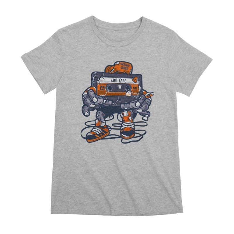Mix Tape Zombie Women's Premium T-Shirt by WackyToonz