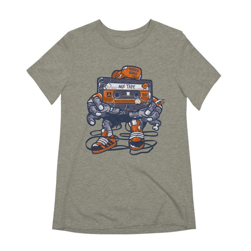 Mix Tape Zombie Women's Extra Soft T-Shirt by WackyToonz