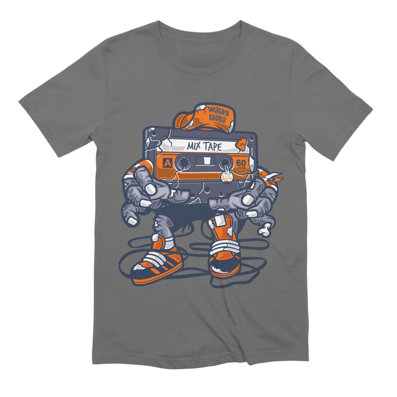 Mix Tape Zombie Men's Extra Soft T-Shirt by WackyToonz