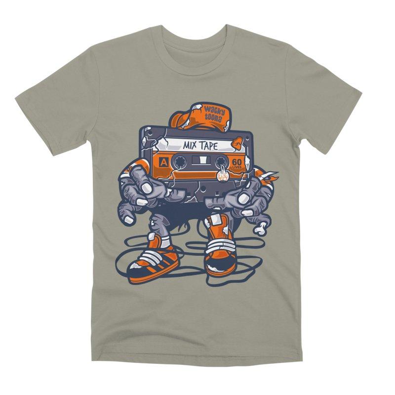Mix Tape Zombie Men's Premium T-Shirt by WackyToonz