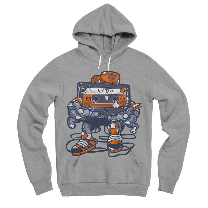 Mix Tape Zombie Men's Sponge Fleece Pullover Hoody by WackyToonz