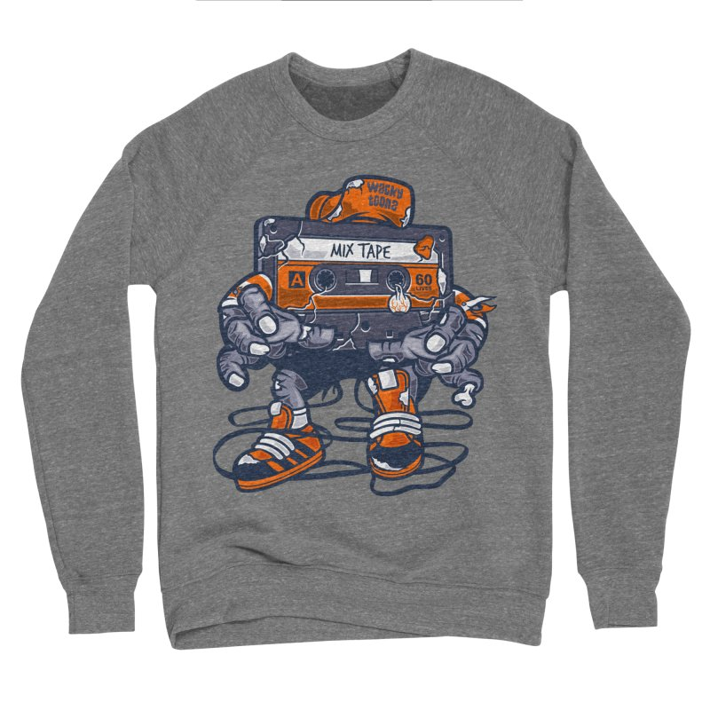 Mix Tape Zombie Men's Sponge Fleece Sweatshirt by WackyToonz