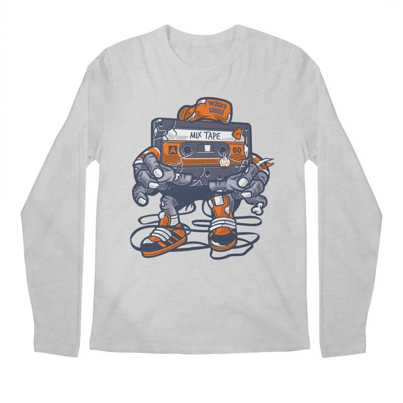 Mix Tape Zombie Men's Longsleeve T-Shirt by WackyToonz