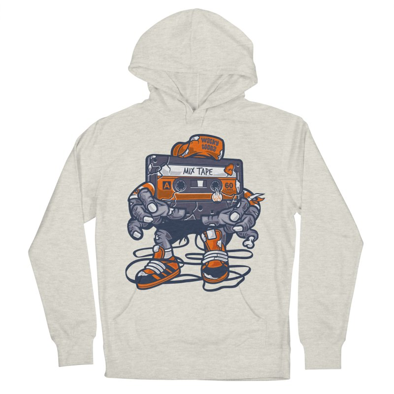 Mix Tape Zombie Men's French Terry Pullover Hoody by WackyToonz
