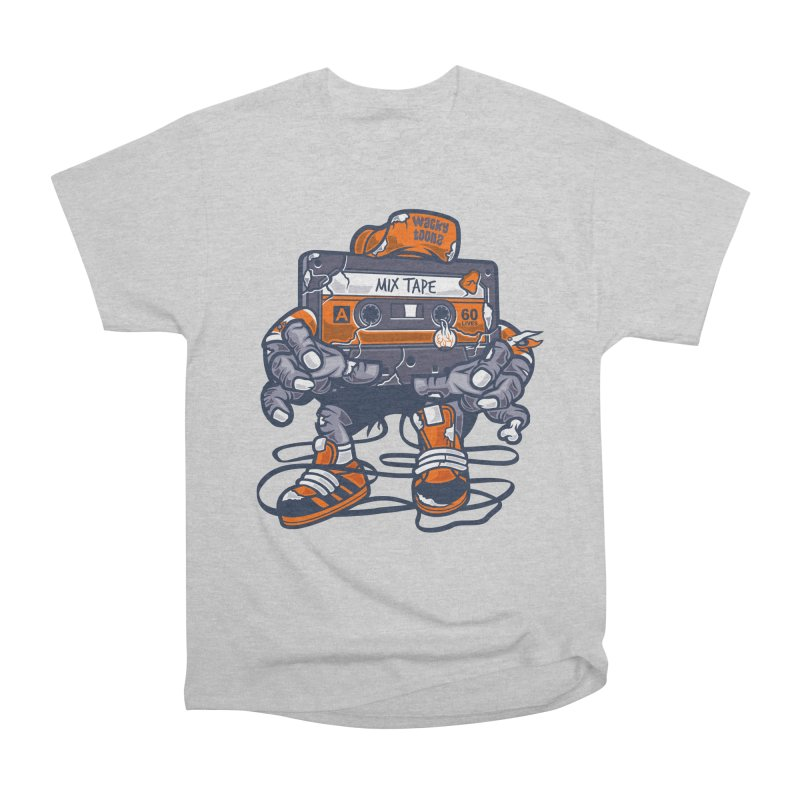 Mix Tape Zombie Women's Heavyweight Unisex T-Shirt by WackyToonz