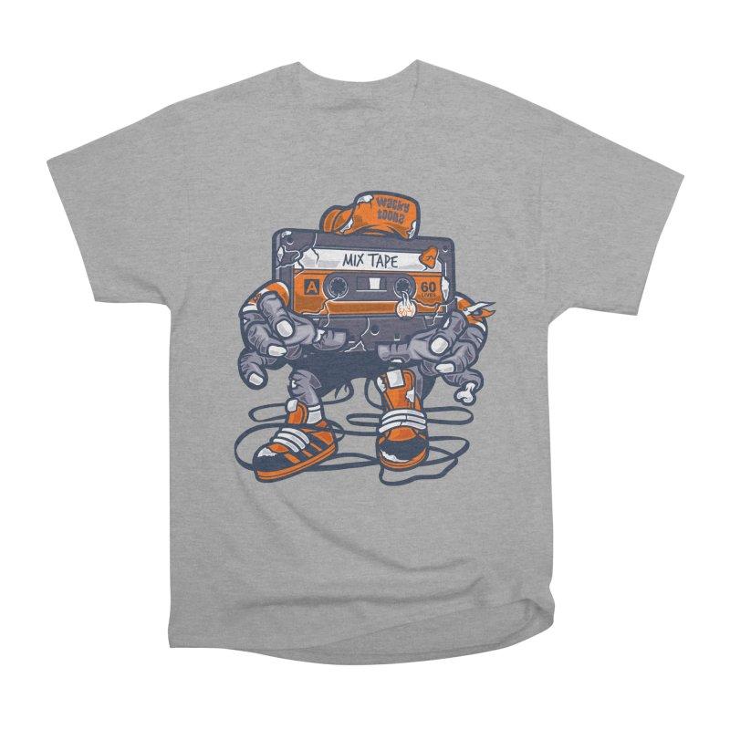 Mix Tape Zombie Men's Heavyweight T-Shirt by WackyToonz
