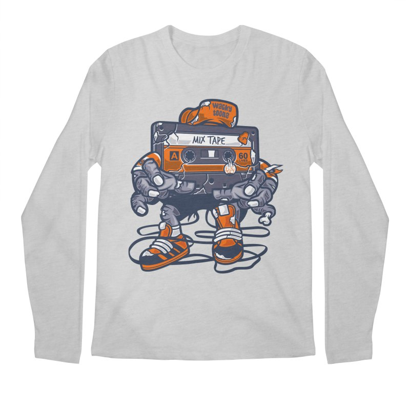 Mix Tape Zombie Men's Longsleeve T-Shirt by WackyToonz