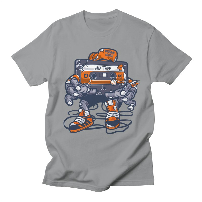 Mix Tape Zombie Men's Regular T-Shirt by WackyToonz