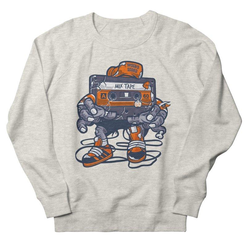Mix Tape Zombie Men's French Terry Sweatshirt by WackyToonz