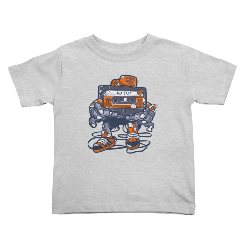 Mix Tape Zombie Kids Toddler T-Shirt by WackyToonz