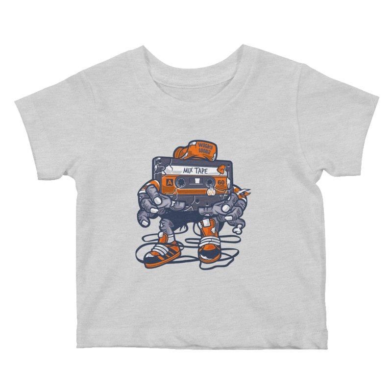 Mix Tape Zombie Kids Baby T-Shirt by WackyToonz