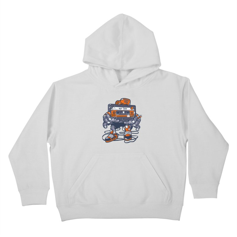 Mix Tape Zombie Kids Pullover Hoody by WackyToonz