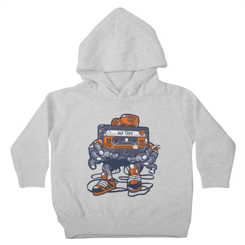 Mix Tape Zombie Kids Toddler Pullover Hoody by WackyToonz