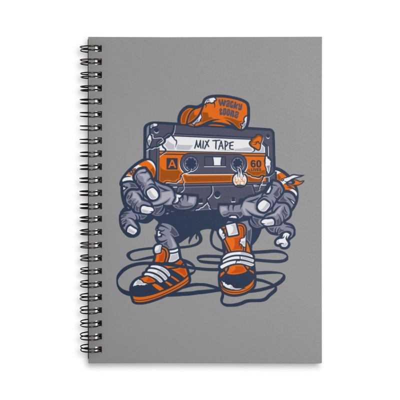 Mix Tape Zombie Accessories Lined Spiral Notebook by WackyToonz