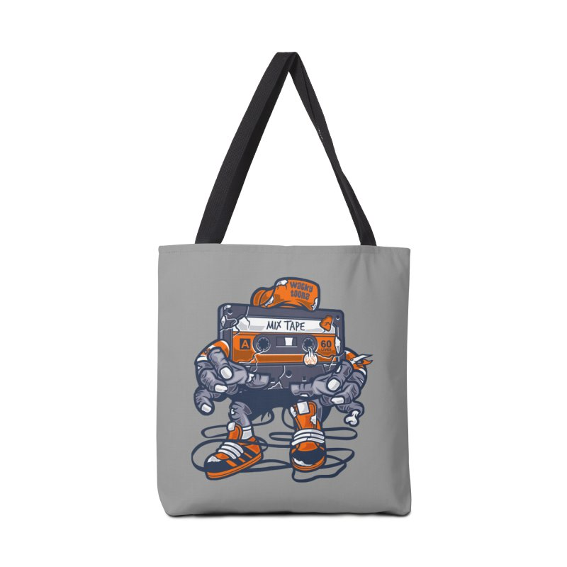 Mix Tape Zombie Accessories Tote Bag Bag by WackyToonz