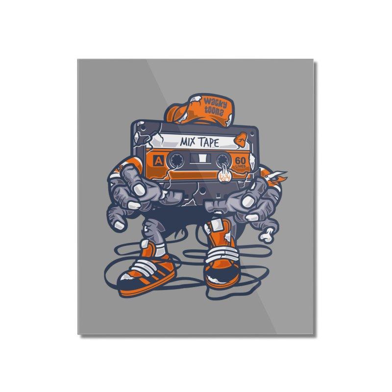 Mix Tape Zombie Home Mounted Acrylic Print by WackyToonz