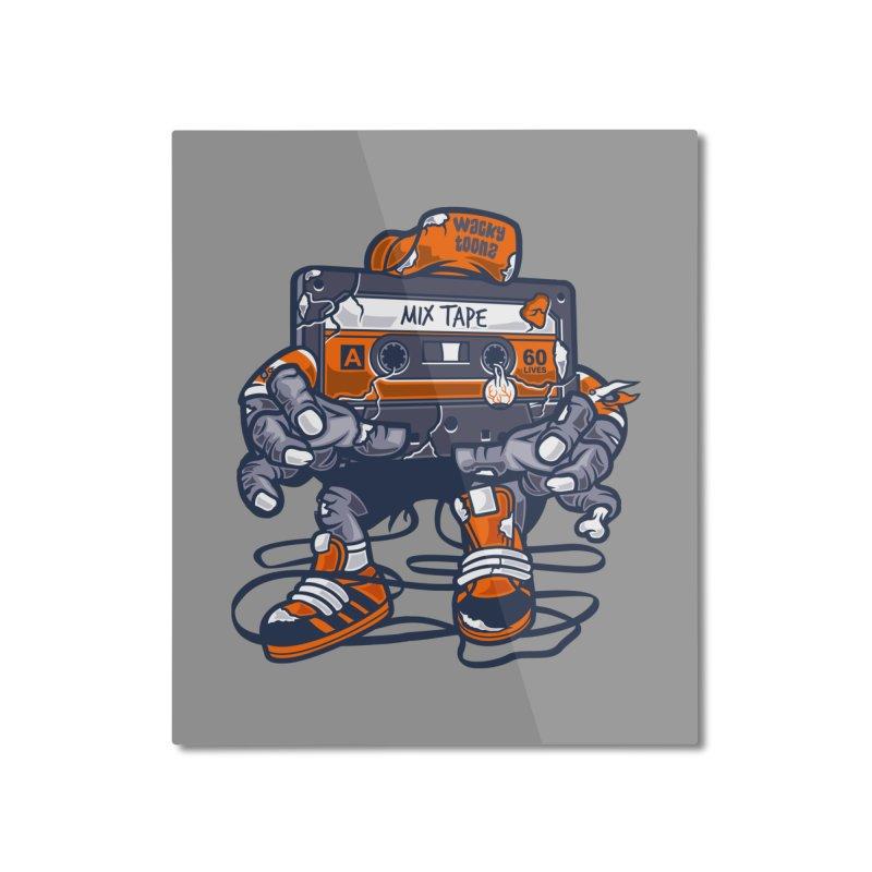 Mix Tape Zombie Home Mounted Aluminum Print by WackyToonz