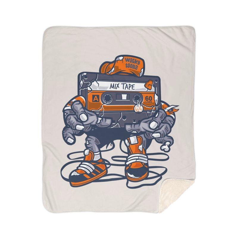 Mix Tape Zombie Home Blanket by WackyToonz