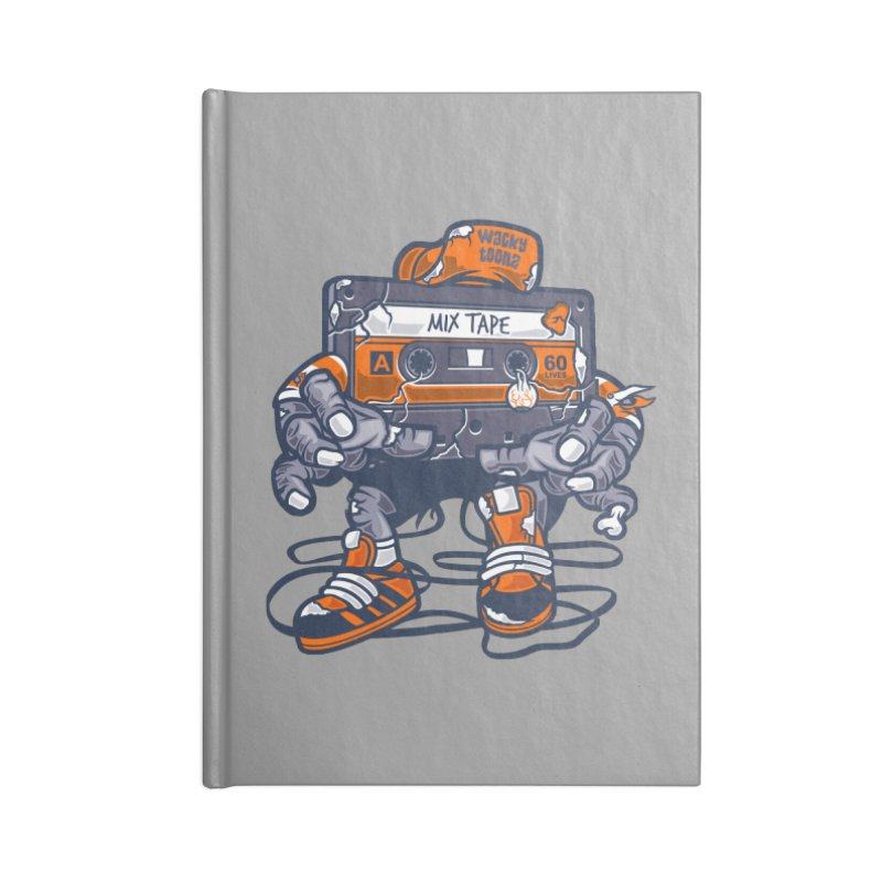 Mix Tape Zombie Accessories Lined Journal Notebook by WackyToonz