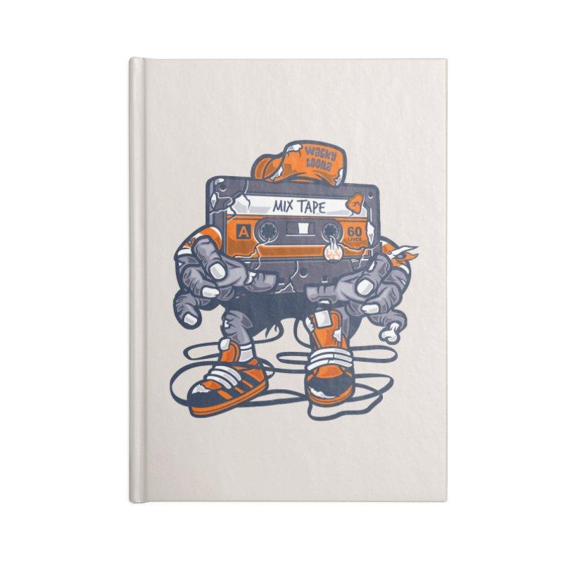 Mix Tape Zombie Accessories Notebook by WackyToonz