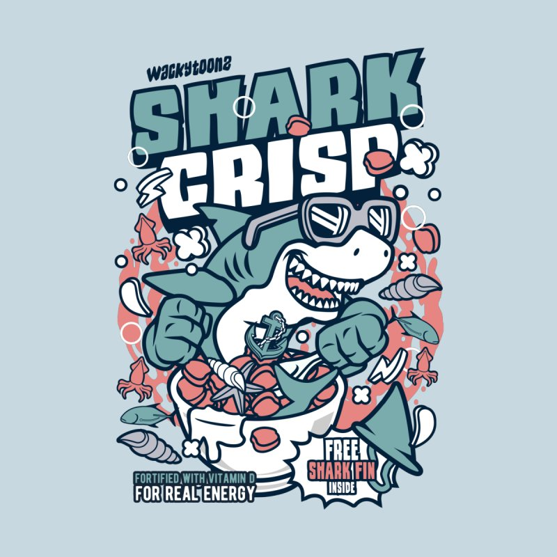Shark Crisp Cereal Kids Longsleeve T-Shirt by WackyToonz