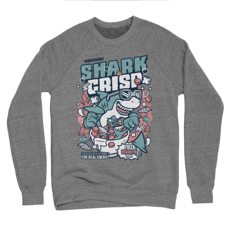 Shark Crisp Cereal Women's Sponge Fleece Sweatshirt by WackyToonz