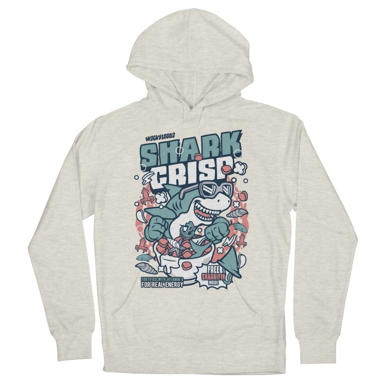 Shark Crisp Cereal Men's French Terry Pullover Hoody by WackyToonz